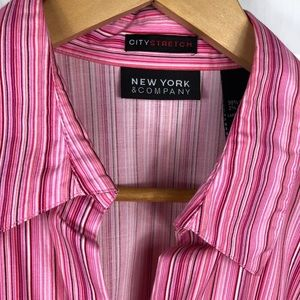 PINK STRETCH BUTTON DOWN SHIRT
